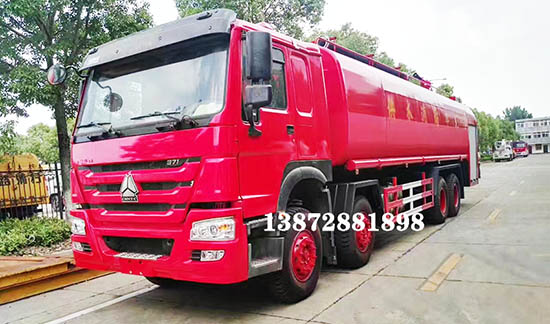 亚洲城娱乐_豪沃HOWO35T消防供水车