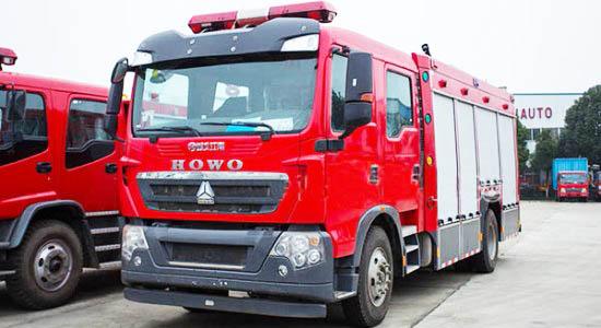 豪沃5吨水罐消防车